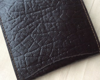 Vintage leather billfold wallet,brown leather wallet, small pocket wallet.