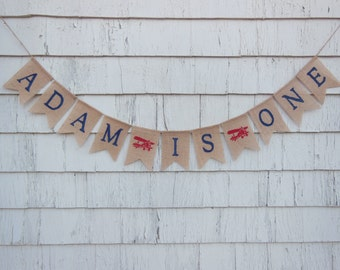 Time Flies 1st Birthday Banner, Vintage Airplane First Birthday Decor, I am One Banner, Airplane Garland Bunting, Burlap Banner, Photo Prop