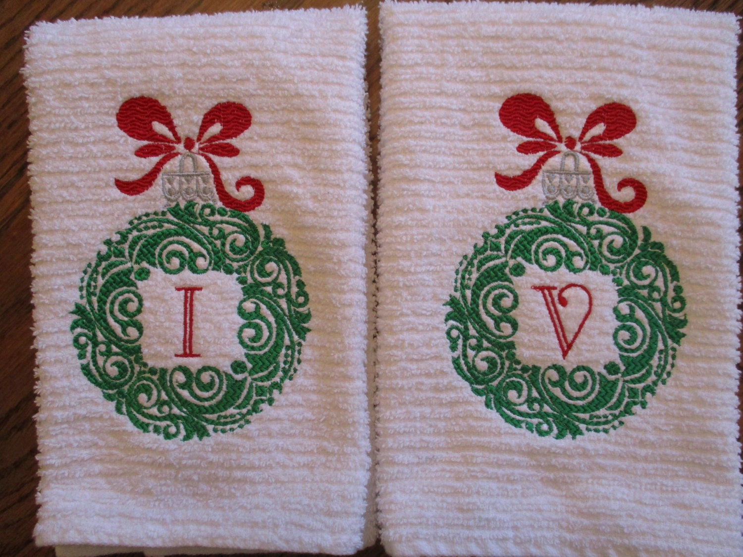 Personalized Christmas Kitchen Towel By Baydillyappliques