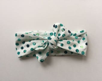 Little Dot Stretchy knot headwrap