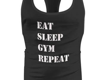 Eat Sleep Gym Repeat BodyBuilding Mens / Stringer / Singlet / Vest / Racerback