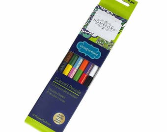 Double Ended Colored Pencils, Multi-color, 6-Count