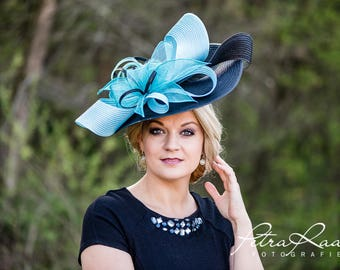 Hat Royal Ascot has ball Hat Kentucky-Derby horse racing has couture millinery Sinamay wedding Fascinator U6