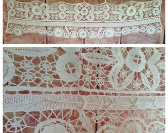 Gorgeous French hand worked antique crochet lace decorative pelmet~ beautiful work.