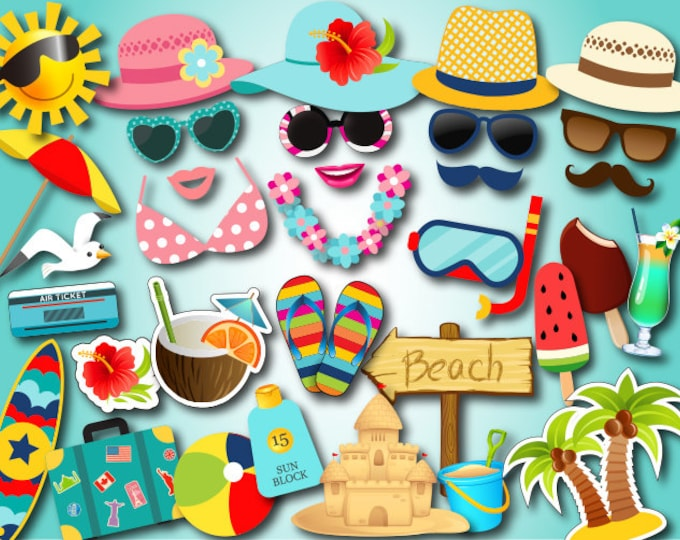 SUMMER PHOTO PROPS FREE PRINTABLES