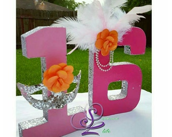 Masquerade Party Decorated Numbers