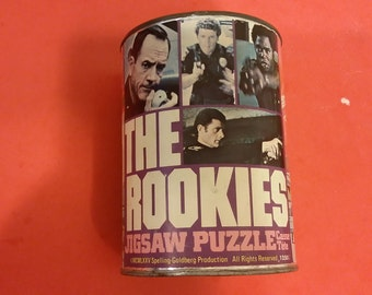 Vintage Jigsaw Puzzle The Rookies Unopened in Can