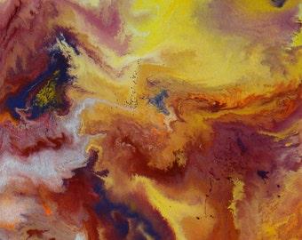 Medium abstract painting   Modern Abstract Art   painting Acrylic Fluid   Acrylic canvas Art   Original Acrylic painting   Art for bedroom