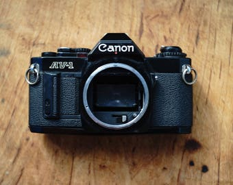 Black Canon AV-1 Body Only! - Tested - Working Condition!