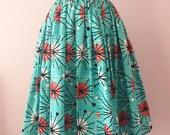1950s 50s Inspired Atomic Print Full Skirt | Mid Century Full Gathered Modest Skirt | Retro Rockabilly Skirt | XS S