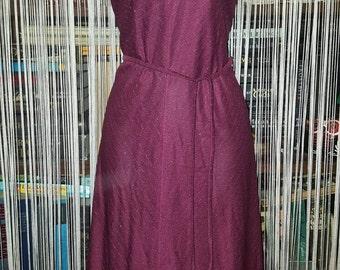 Nostalgic vintage 80s sheer metallic thread dress with bolero