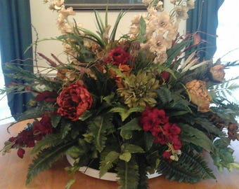 Floral Arrangement Extra Large Table Centerpiece Shipping Included Elegant Luxury Modern Silk Floral