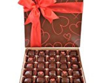 Happy Valentines Day gift box - Date Bites 25 Pieces - Dark Chocolate