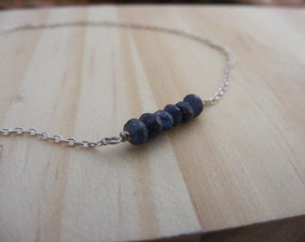 Natural Sapphire Silver Bracelet