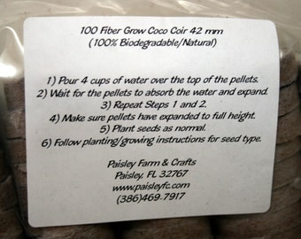 Coco Coir Seed Starter Pellets/Grow Media 42 mm Value Packs