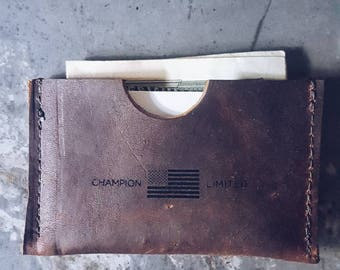 Leather Business Card Holder/ Credit Card Holder