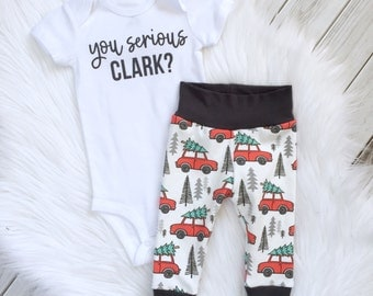 Christmas vacation baby, Griswold baby set, Christmas vacation baby outfit, you serious clark, hipster christmas