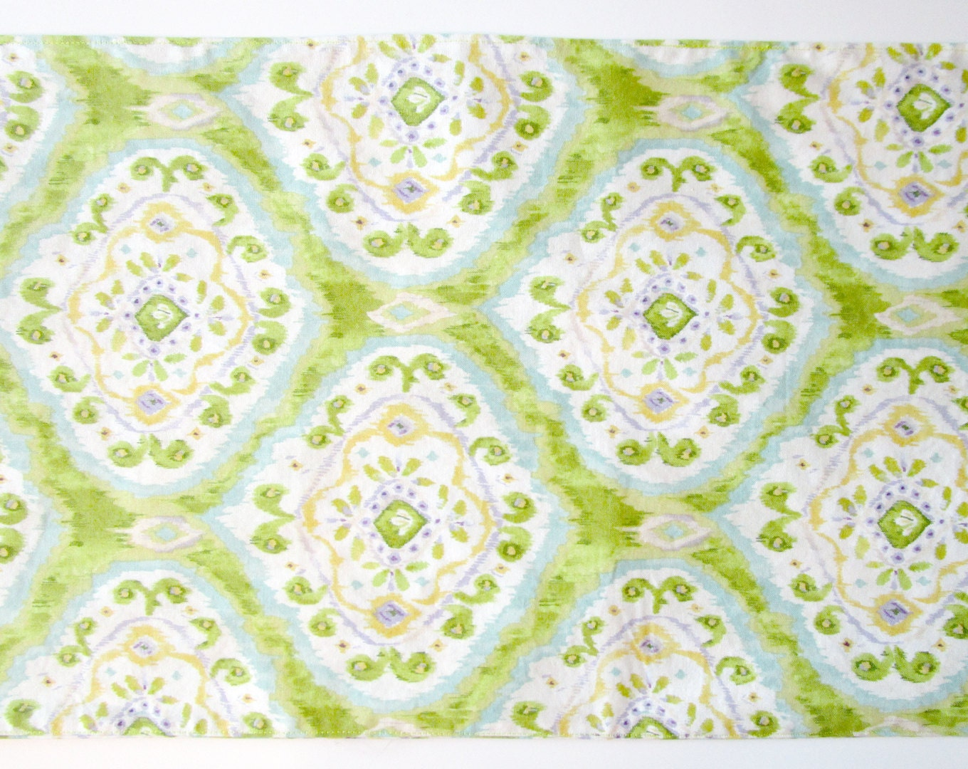 6 ft table runner 12 x 72 spring green ikat for 12 ft table runner