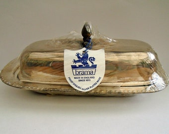 Brama Silver plated butter dish