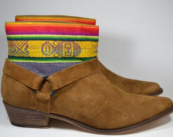 LEATHER ETHNIC BOOTS, Size 41, Brown Boots, Ethnic Boots, Spanish Boots