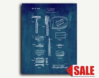 Patent Art - Safety-razor Patent Wall Art Print