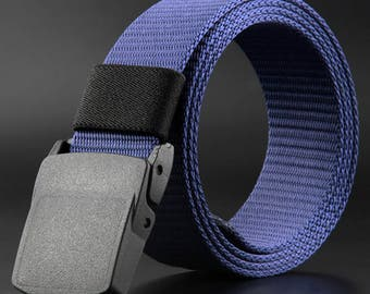 Heavy duty tactical nylon belt