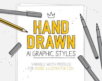 AI Hand drawn styles & brushes