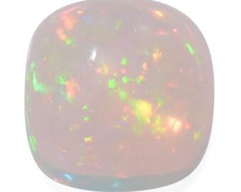 Ethiopian Welo Opal Loose Gemstone Cabochon Cushion 1A Quality 5mm TGW 0.40 cts.