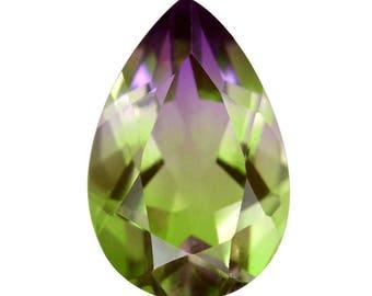 Grape Vine Quartz Triplet Loose Gemstone Pear Cut 1A Quality 15x10mm TGW 6.10 cts.