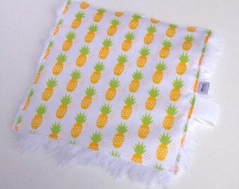 Mini Lovey Blanket, Baby Security Blanket, Pineapple Nursery Gift, Baby Lovey Blanket, Baby Comforter, Pineapple Blanket, Pineapple Gift