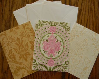 Set of 3 Anna Griffin Card Bases With Envelopes (207)