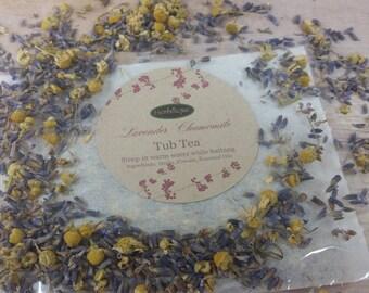 Tub Tea - Bath Tea - Herbal Tea - Oversize Tea Bags - Natural Bath Products - Herbal Bath Products - Bath Tea Bags -  Reusable Tea Bags