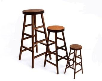 Bar stool for doll size 1/6, 1/4, 1/3 (BJD MSD SD, momoko, blythe, obitsu, volks, unoa, barbie, fashion doll, azone, furniture)