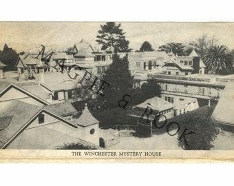 Winchester Mystery House Vintage Tourist Pamphlet Map Souvenir
