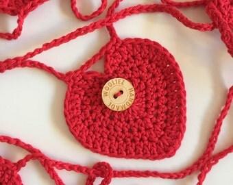 Crochet hearts garland - hearts - love garland - wedding - Valentine's Day - garland - decoration - nursery