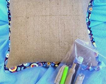 Needle felting cushion with tools, made to order, felting kit , felting sponge pad ideal for 3d work ,needle felted animals, hessian, burlap