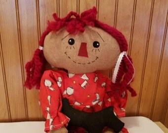 Raggedy Ann Doll with Scottie Dog