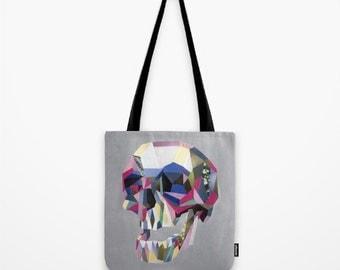 Skull Handbag, Skull Canvas Tote Bag, Skull fashion accessories, Womens Totes, Shopping Tote, Bookbag