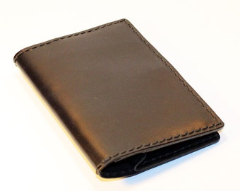 Leather Travel Wallet!Black Handmade Leather Wallet! Black Traveler! Great Gift! Passport Wallet! Black Wallet!