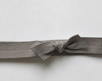 Solid Gray - elastic baby headband - newborn headband - soft elastic - infant bow