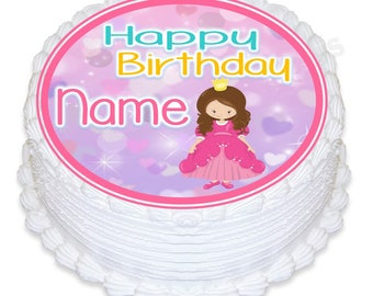 "ND3 Princess round 7.5"" icing cake topper"