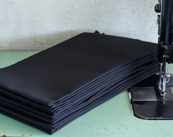 Black 10.10 oz Water Repellent Army Duck Canvas --  FREE SHIPPING