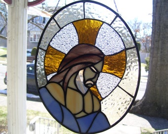 Stained Glass Jesus Christ Suncatcher