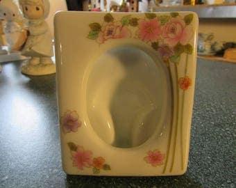 Vintage Joy San Francisco Takahashi Floral Porcelain Picture Frame