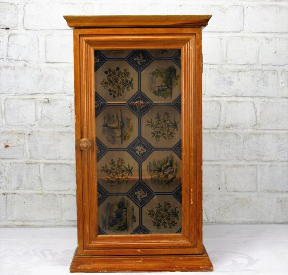 Like this item? - Vintage Wooden Small Medicine Cabinet Apothecary Wall Cabinet