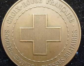 French Red Cross Medal Awarded To Madame Marie Lamury For Assistance Given During The Paris Floods Of 1910