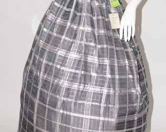 Vintage Estate The Very Thing Grey Lilac Silver Metallic Ball Skirt Made in USA