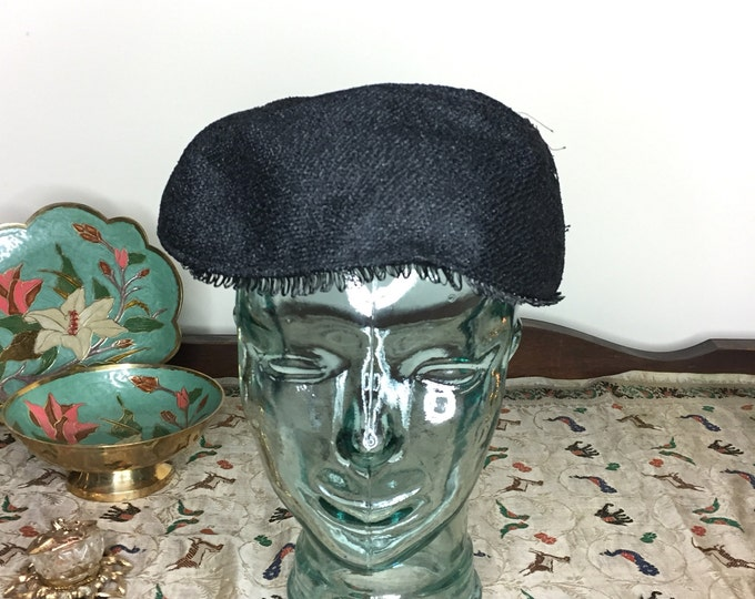 Vintage Estate Maria Hart Bronxville NY Black Hat 40s