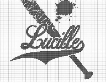 Crochet The Walking Dead Lucille Bat Chart, Crochet Colorwork Lucille Bat Graph Pattern, PDF Digital Files