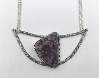 Venom ~ Botryoidal Purple Chalcedony Snakeskin Necklace